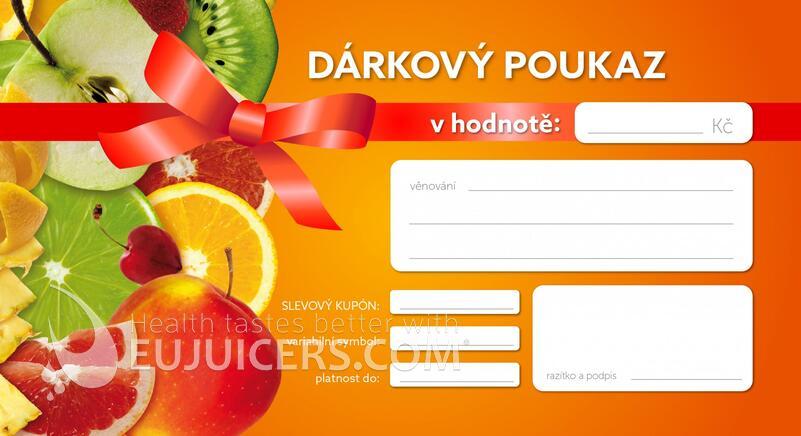 dárkový poukaz Eujuicers.cz