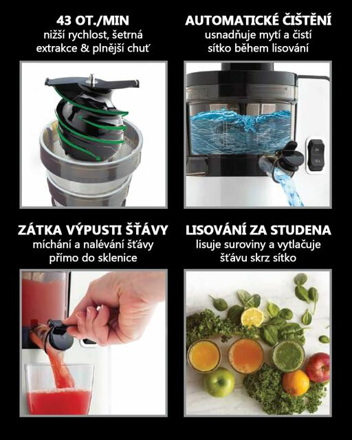 Features of Sana Juicer by Omega EUJ-808